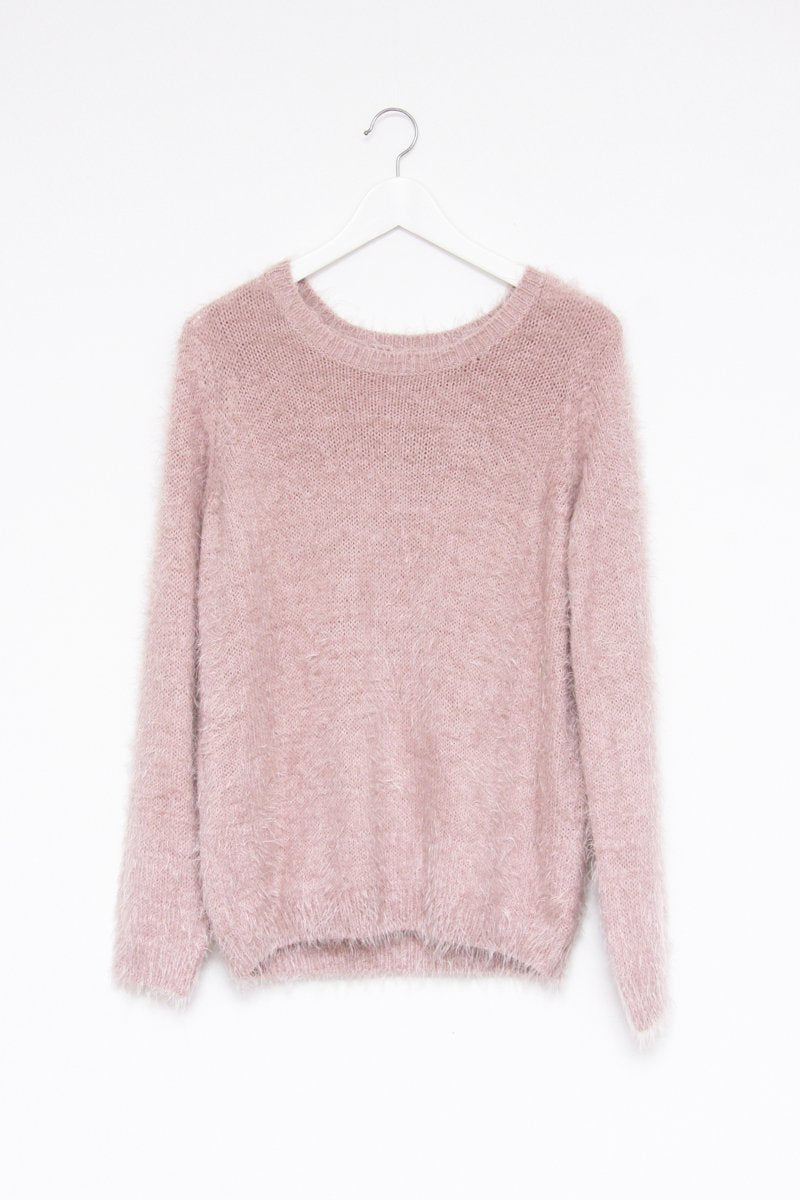 0557_DUSTY PINK FUZZY VINTAGE JUMPER