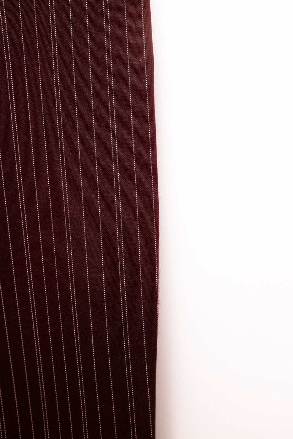 0373_PINSTRIPE CARROT BORDEAUX VINTAGE TROUSERS