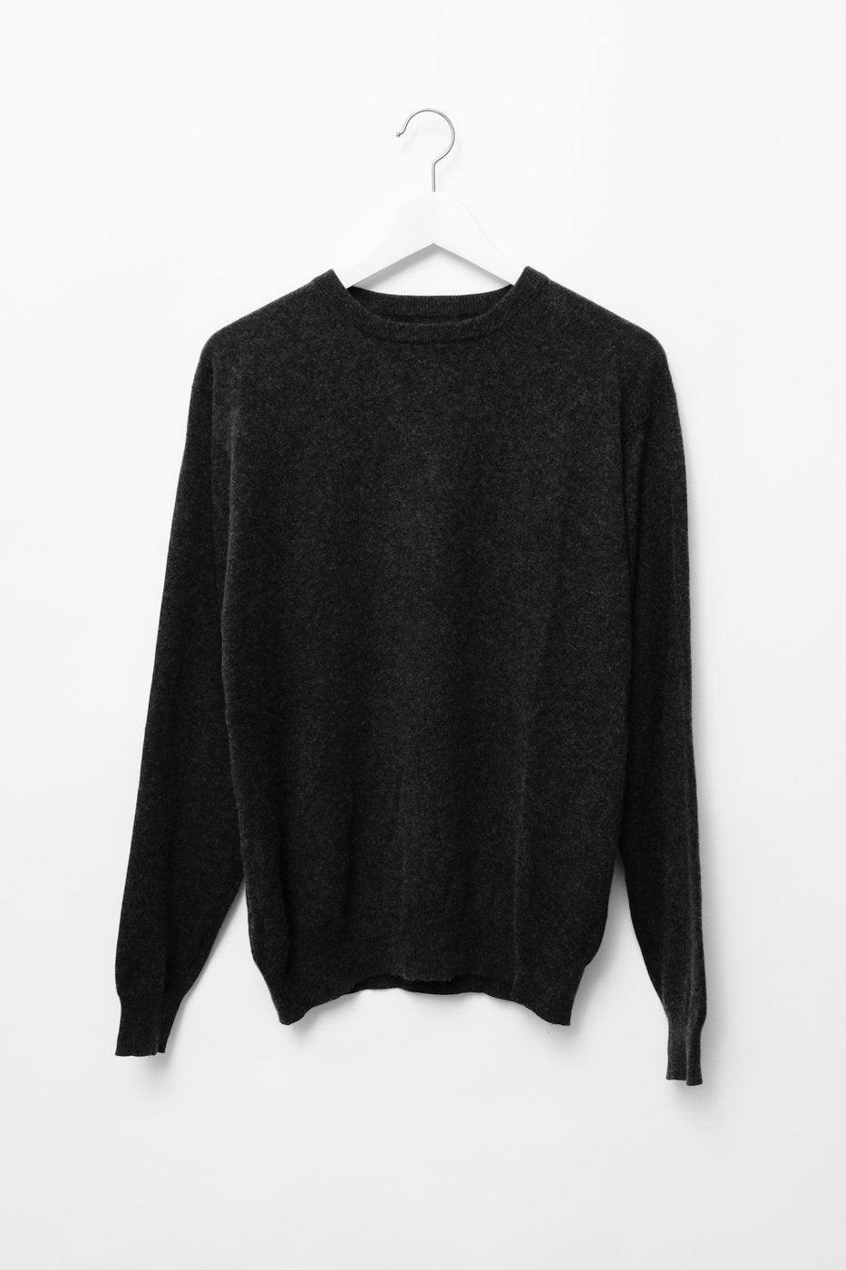 0310_CASHMERE SILK ANTHRACITE KNIT SWEATER