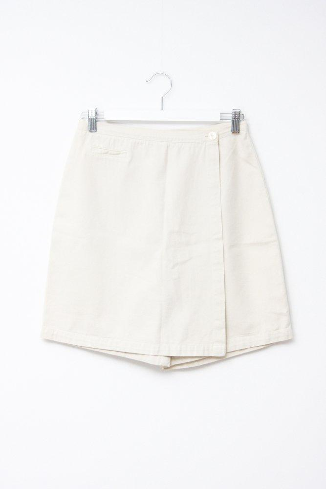 0698_VINTAGE NUDE COTTON SKIRT SHORTS