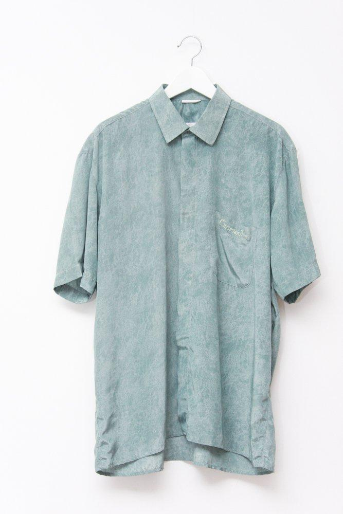 0747_CHRISTIAN DIOR VINTAGE 80s 90s MINT SILK SHIRT DRESS