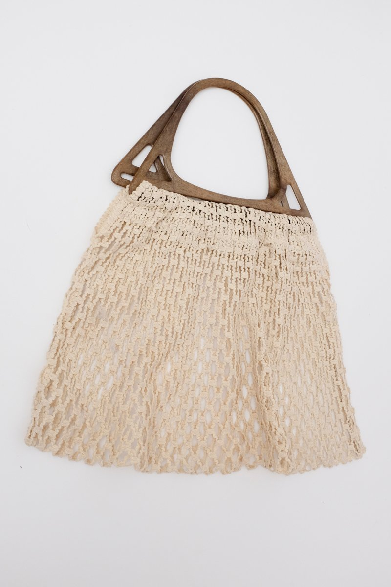 0220_XL MESH CREAM MARKET BEACH BAG