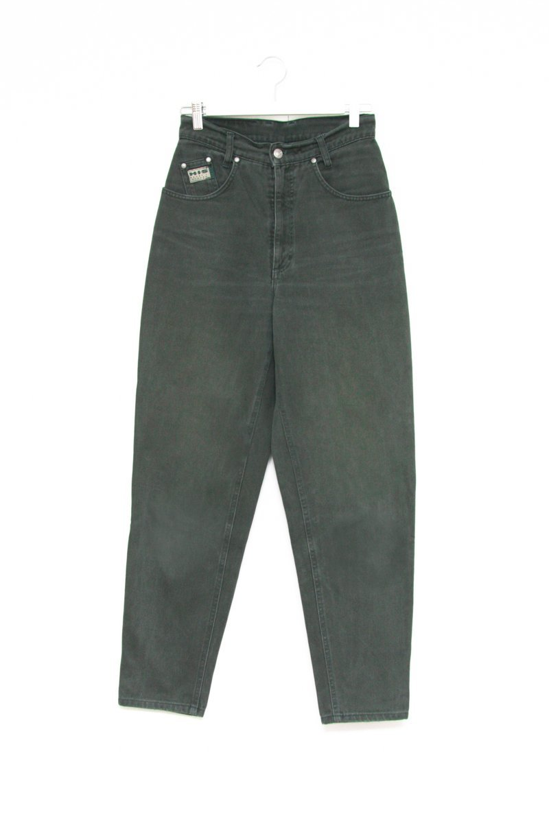 0578_VINTAGE HIS GREEN HIGH WAIST JEANS