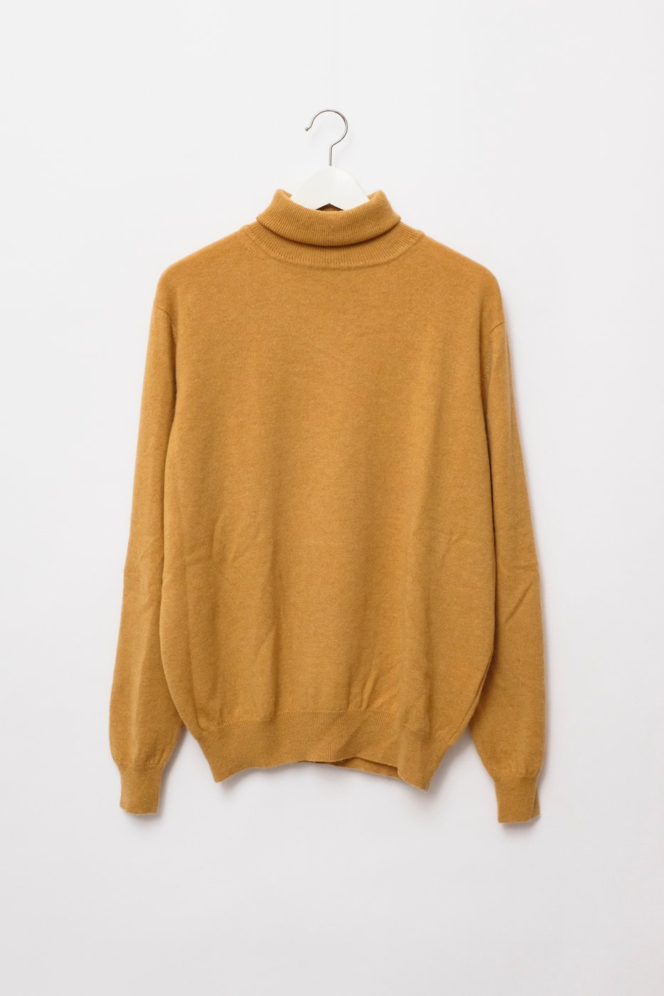 0298_CASHMERE MUSTARD YELLOW TURTLE KNIT