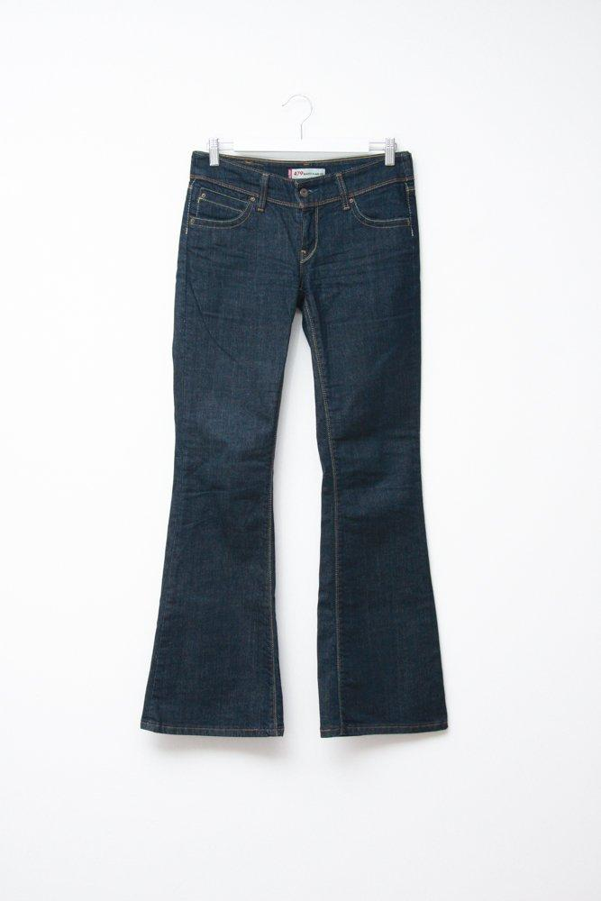 0715_LEVIS VINTAGE HIPPIE FLARED JEANS TROUSERS