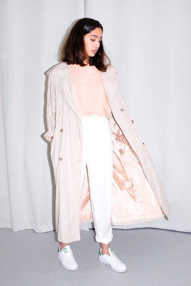 0754_NUDE PALE ROSE TRENCH COAT