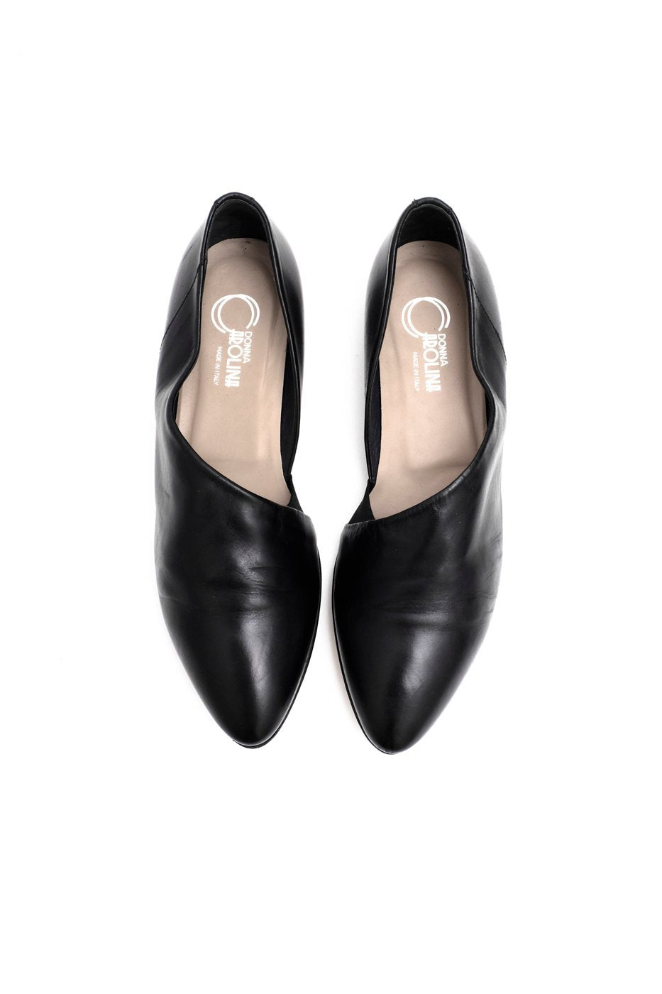 0488_PURISTIC BLACK 38,5 LEATHER SHOES
