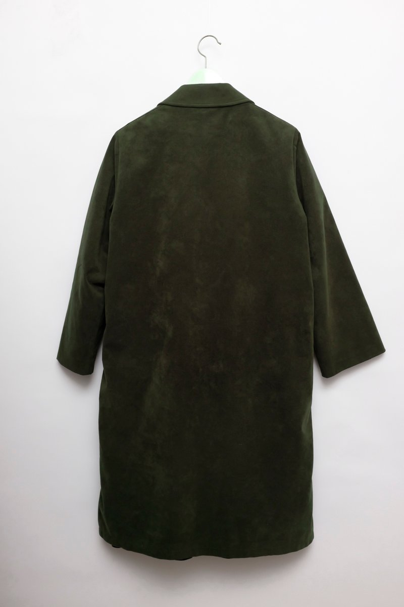 0136_WARM LINING PINE GREEN COAT