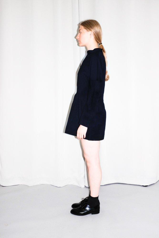 0736_COS NAVY WOOL TURTLE NECK TUNIC DRESS