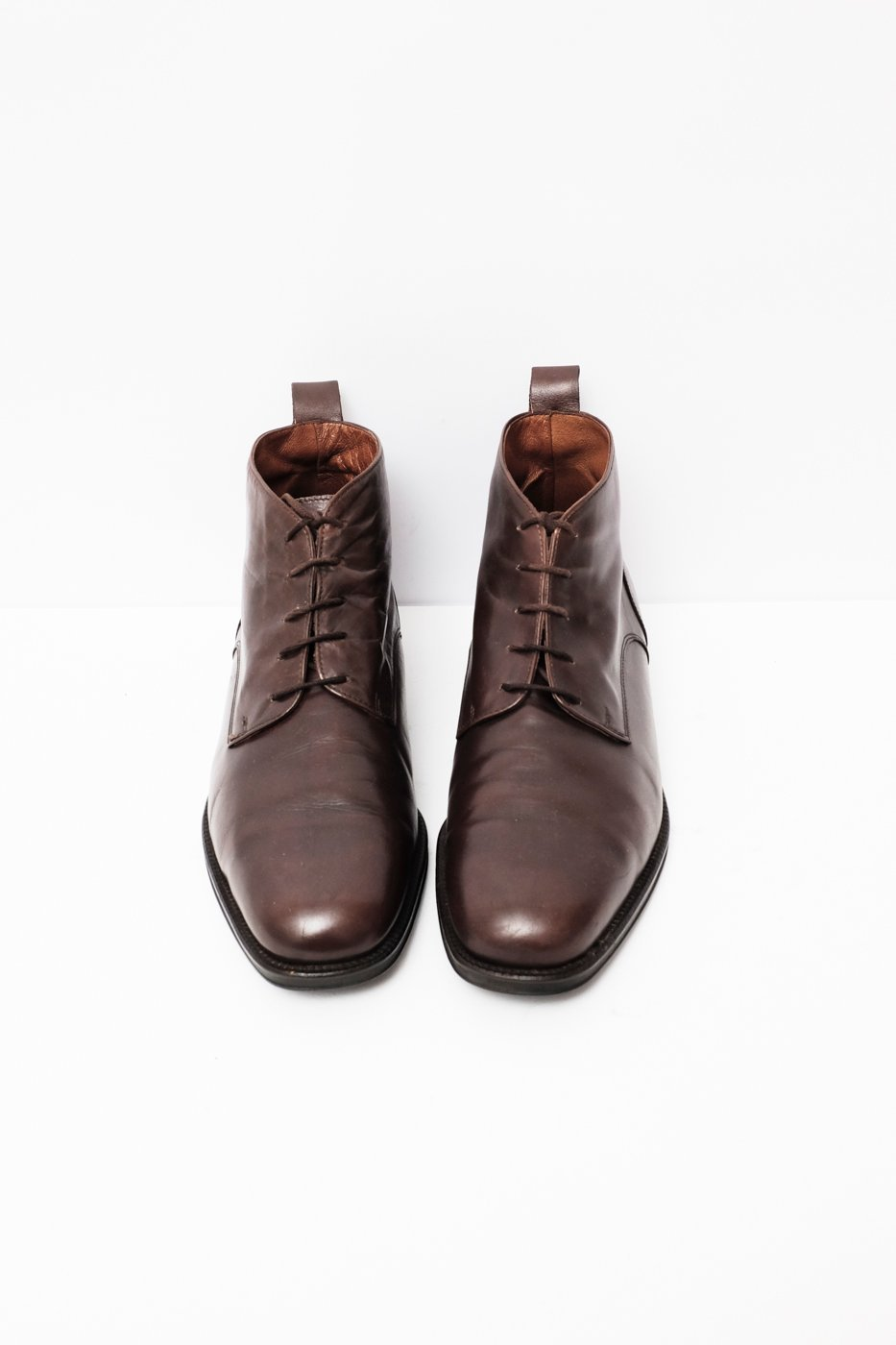 0263_DANDY 40 41 LEATHER LACE UP BOOTS
