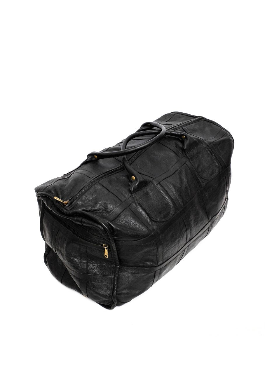 0501_XXL LEATHER BLACK WEEKENDER TRAVEL BAG