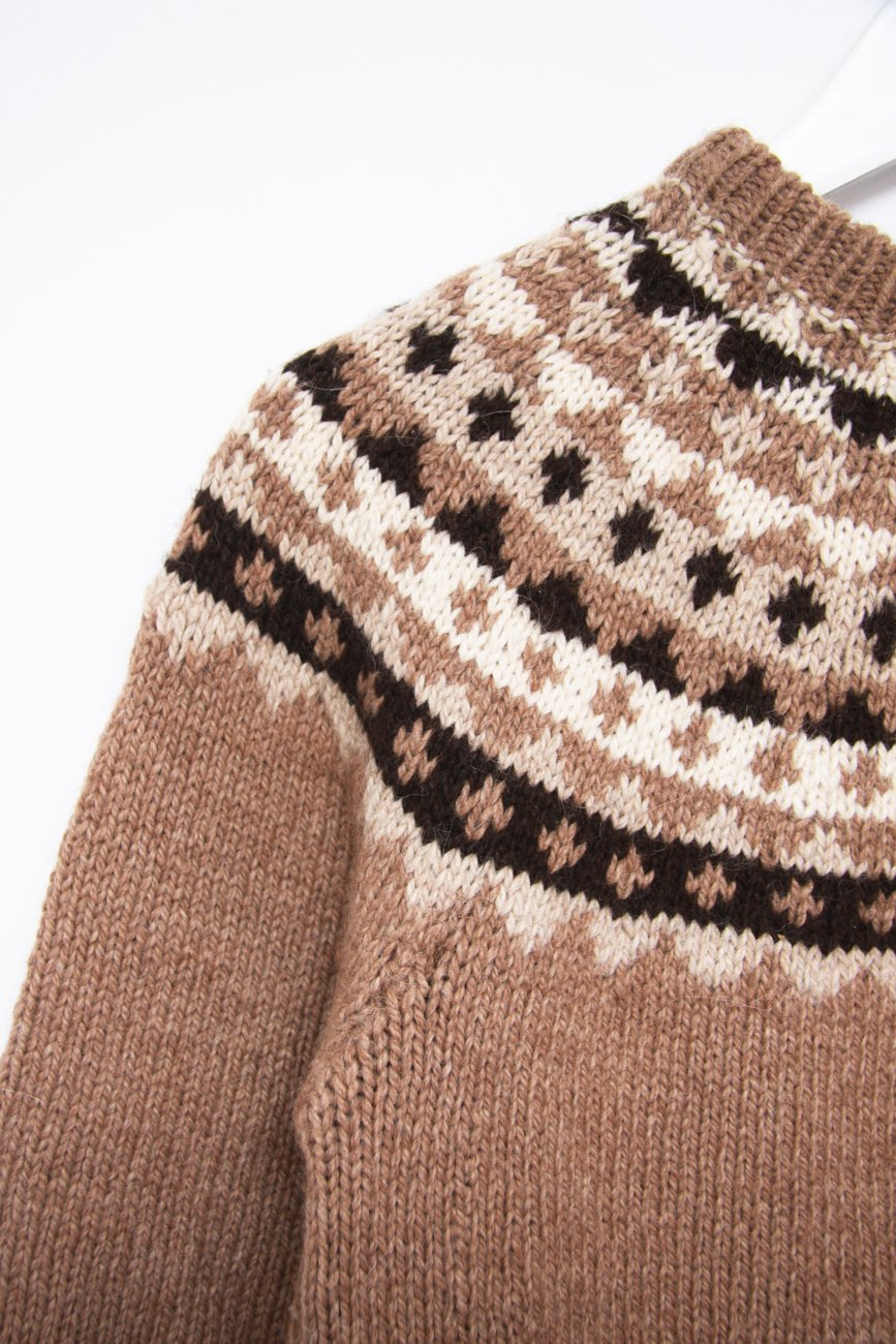 0634_ISLAND CAMEL BROWN NORWAY KNIT JUMPER