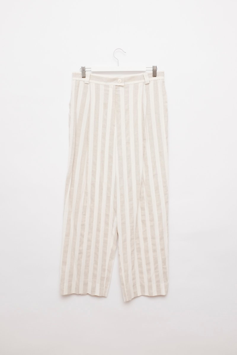 0218_LINEN STRIPES TROUSERS
