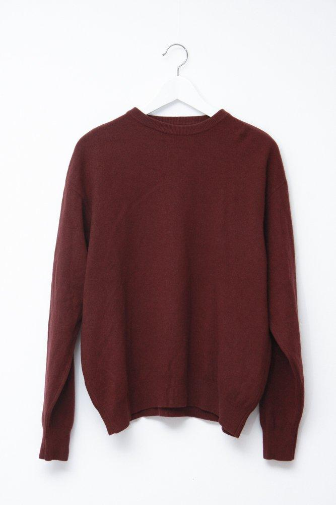 0612_BORDEAUX RED CASHMERE SILK JUMPER