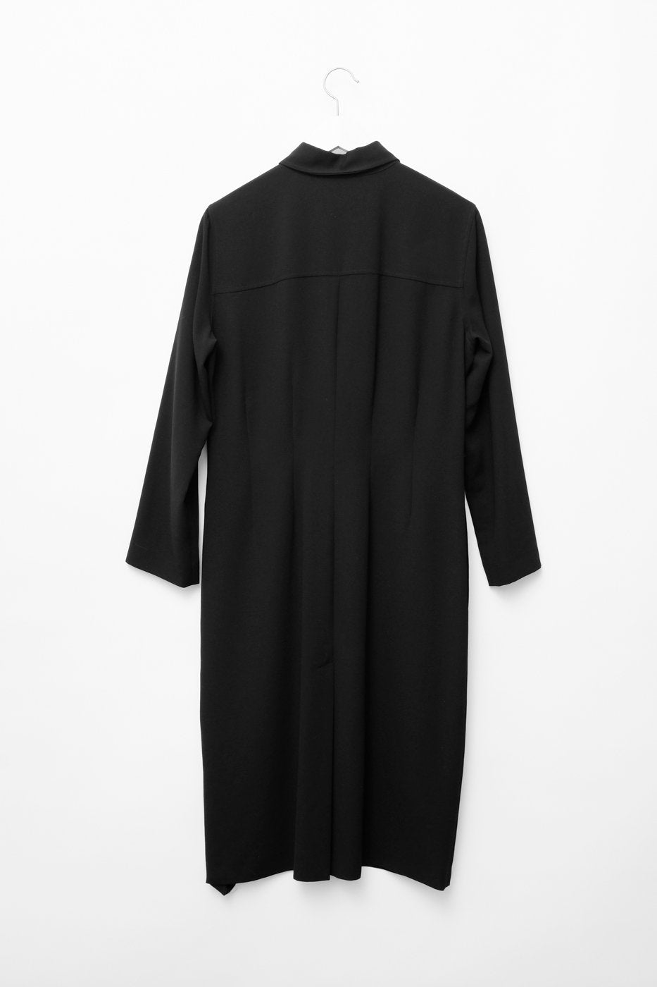 0313_CLEAN MINIMAL BLACK SHIRT DRESS