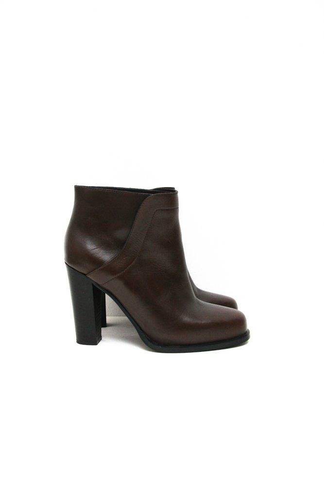 0697_& OTHER STORIES 39 BROWN LEATHER ANKLE BOOTS