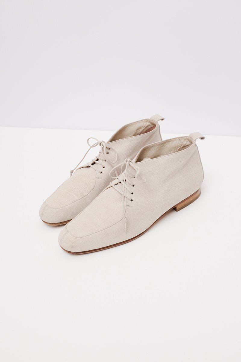 0229_CREAM  ITALY LACE UP SHOES 39