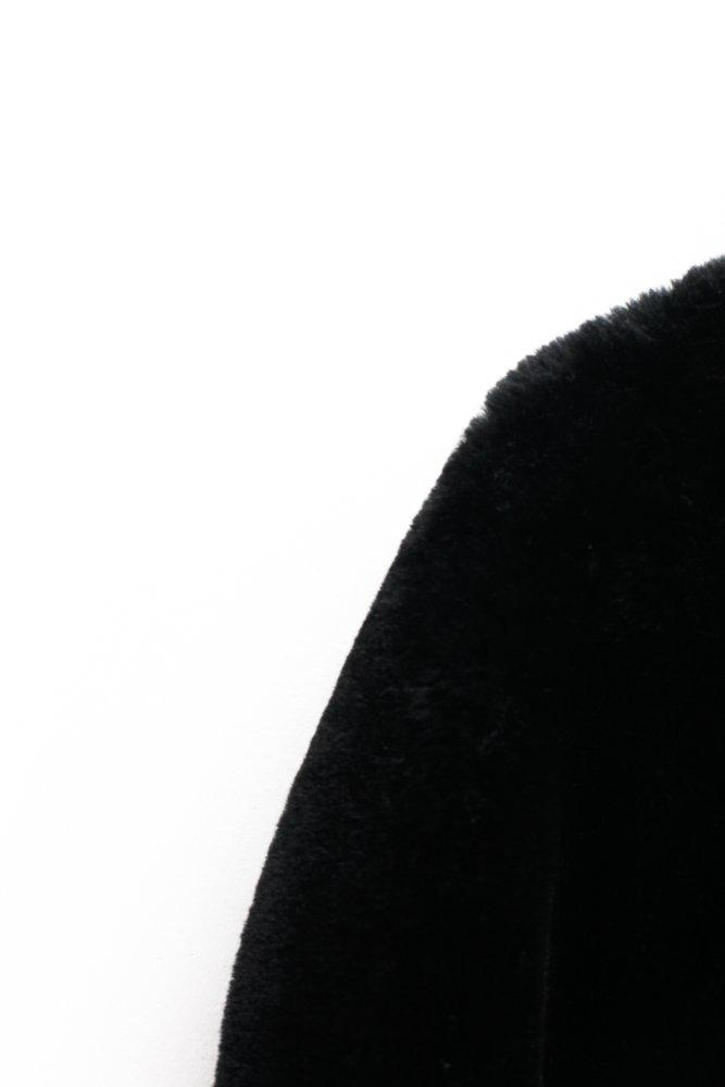 0626_VINTAGE BLACK TEDDY BEAR FAUX FUR COAT