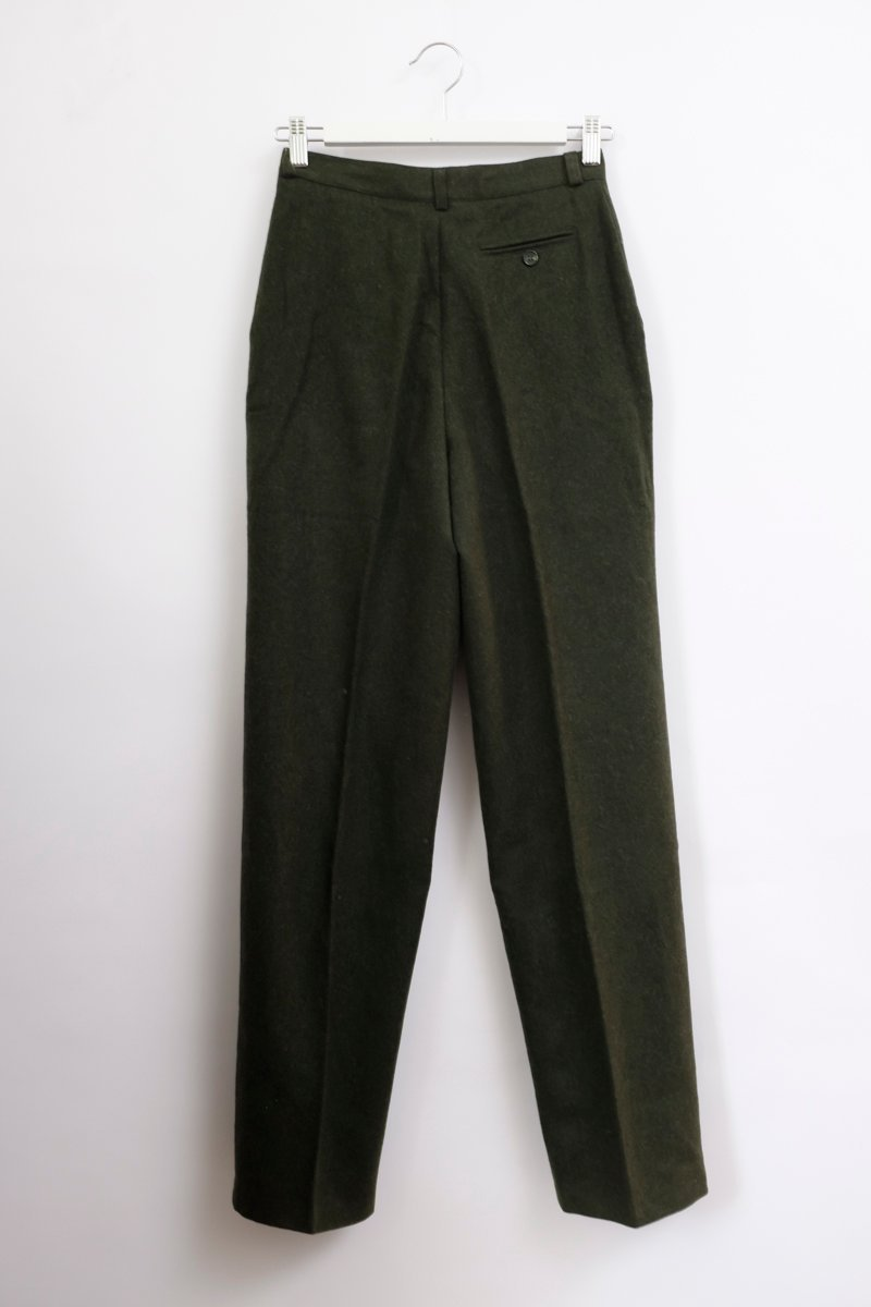 0137_PURE WOOL KHAKI HIGH WAIST PANTS