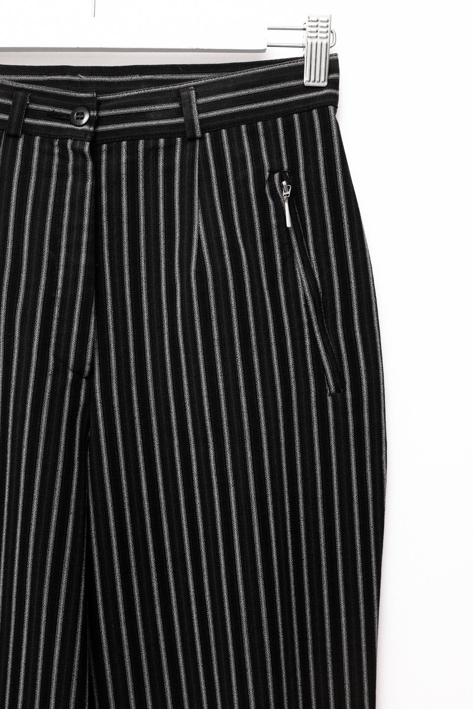 0492_PINSTRIPE CARROT VINTAGE TROUSERS
