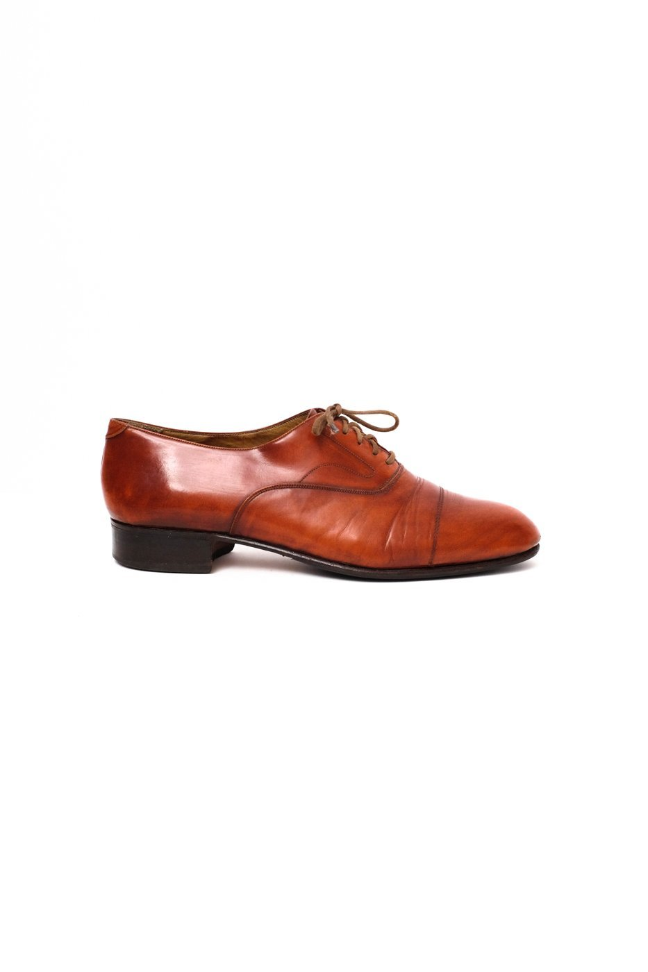 0522_COGNAC 42 LEATHER OXFORD SHOES