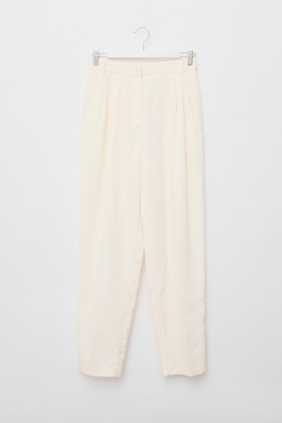 0494_OFF WHITE HIGH WAIST WOOL PANTS