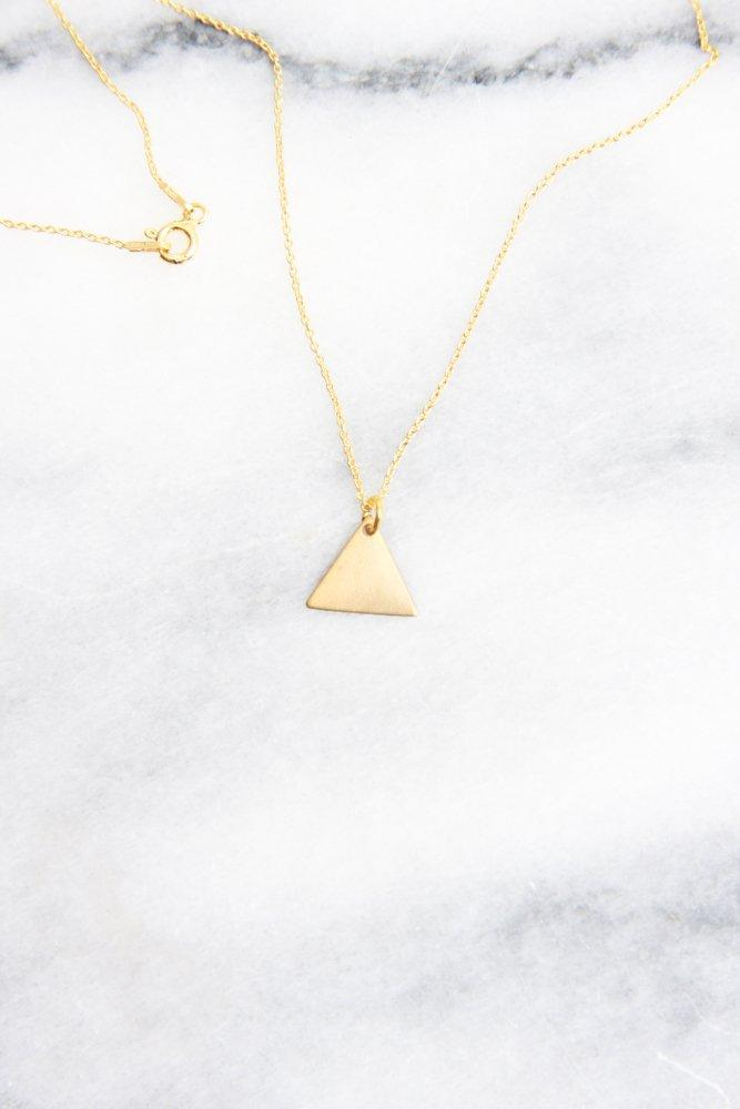 0672_TRIANGLE GOLD PLATED STERLING SILVER 925 NECKLACE