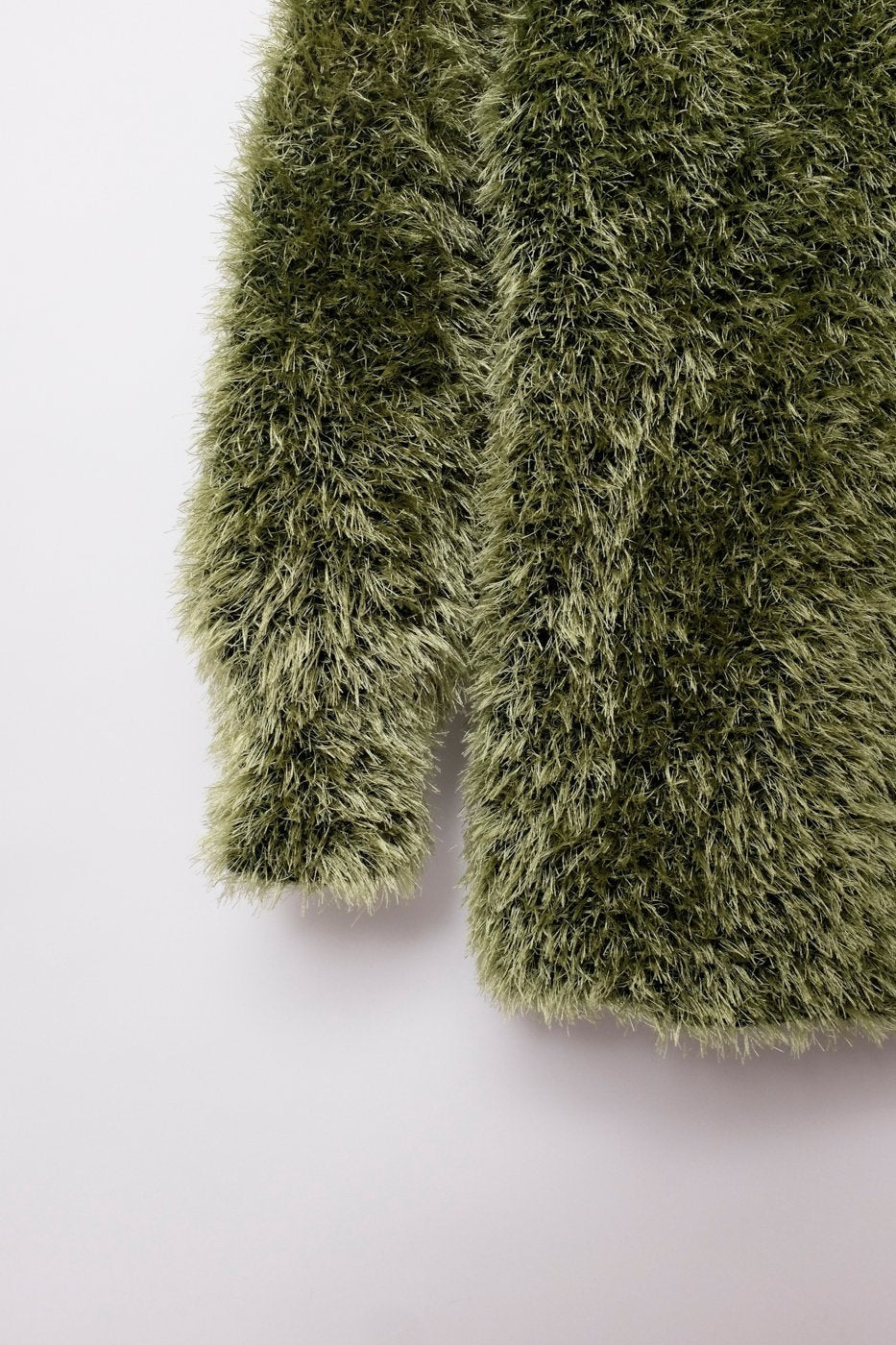 0269_TEDDY HANDMADE FUZZY GREEN COAT JACKET