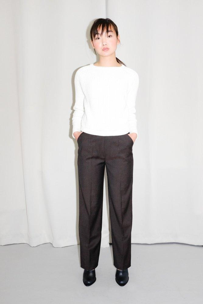 0175_VINTAGE ESCADA DARK CHOCO HIGH WAIST TROUSERS