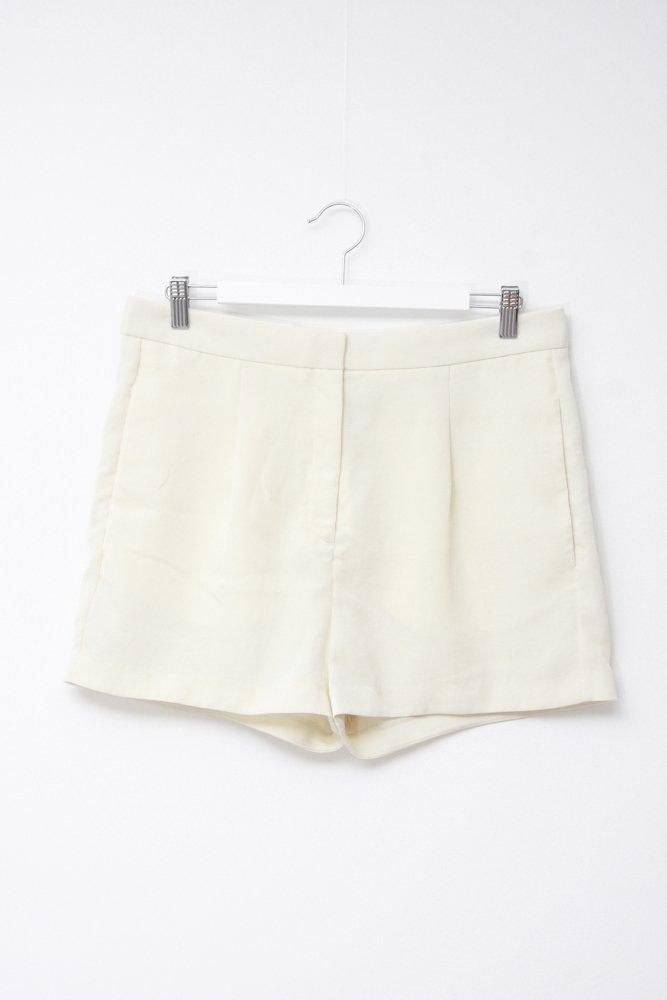 0716_ACNE PASTEL PALE YELLOW SILK SHORTS