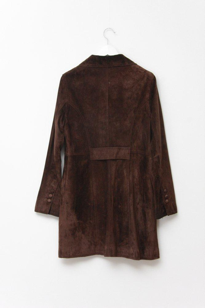 0682_VINTAGE BOHO BROWN SUEDE JACKET COAT