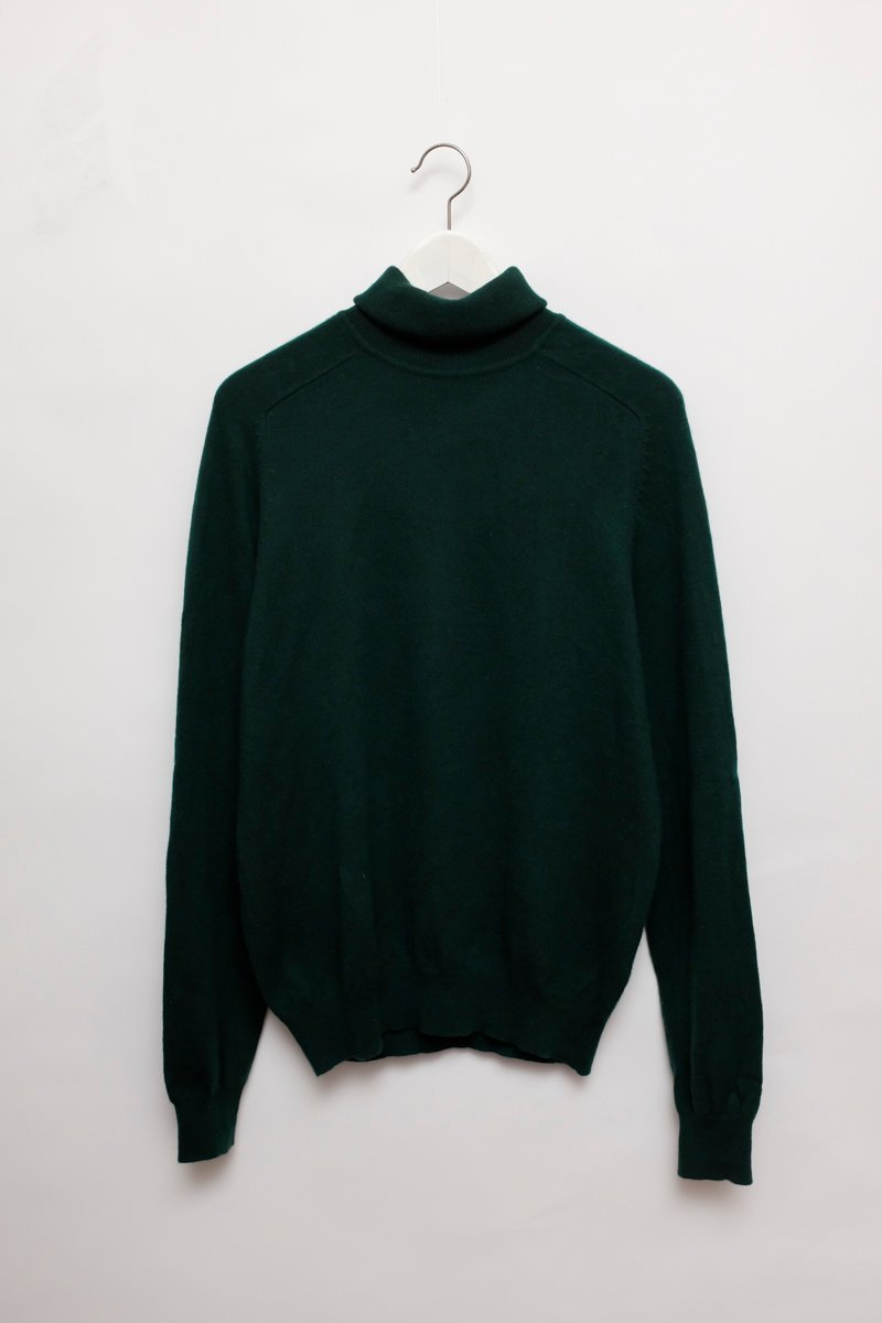 0144_CASHMERE FOREST GREEN TURTLE KNIT