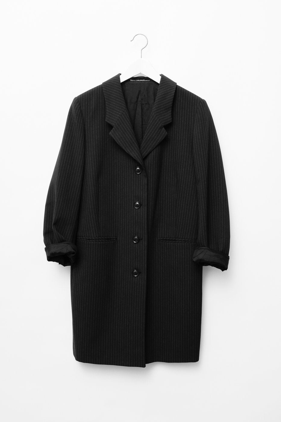 0315_PINSTRIPES LONG BLAZER COAT