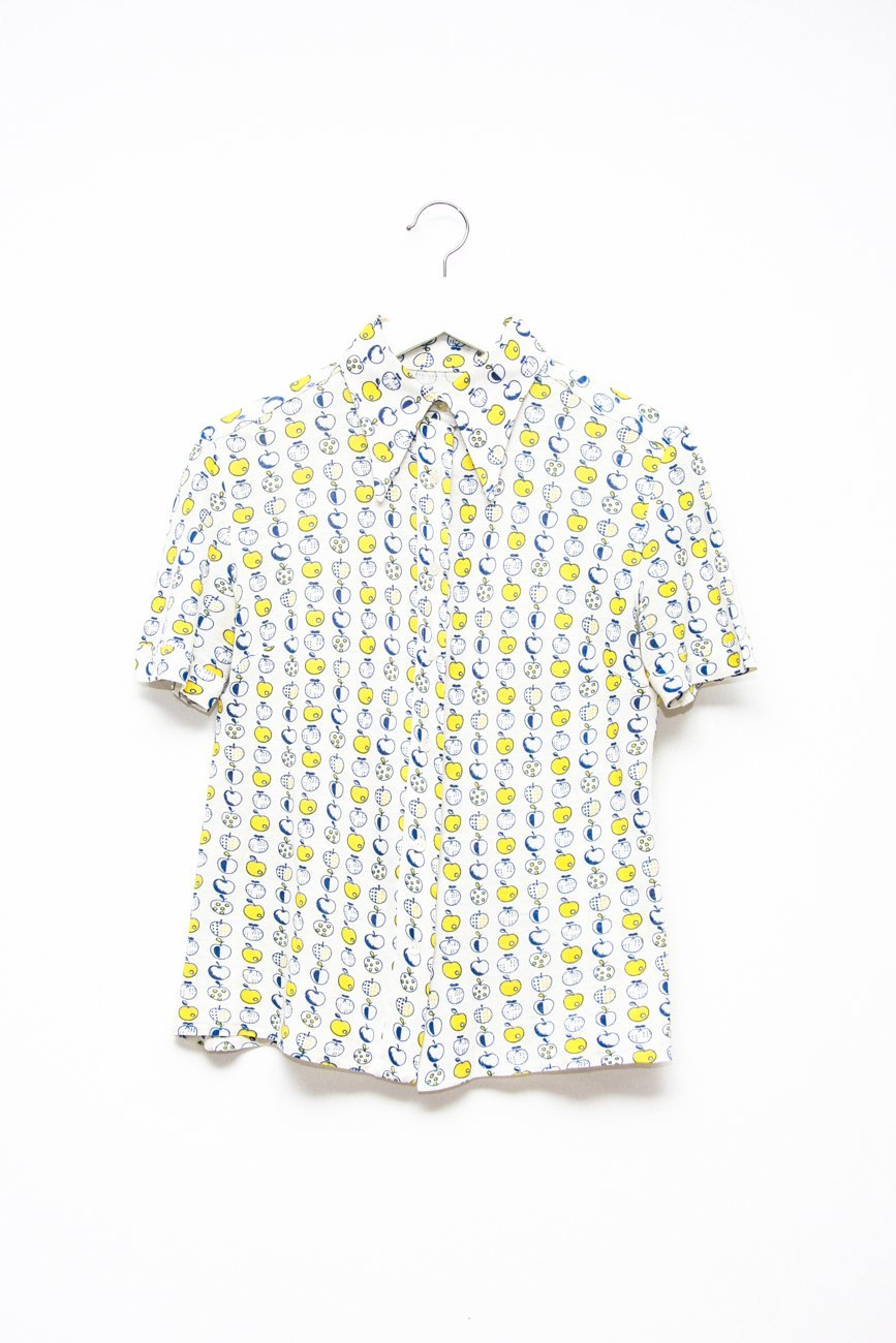 0629_VINTAGE APPLE SHIRT WITH POINTY COLLAR
