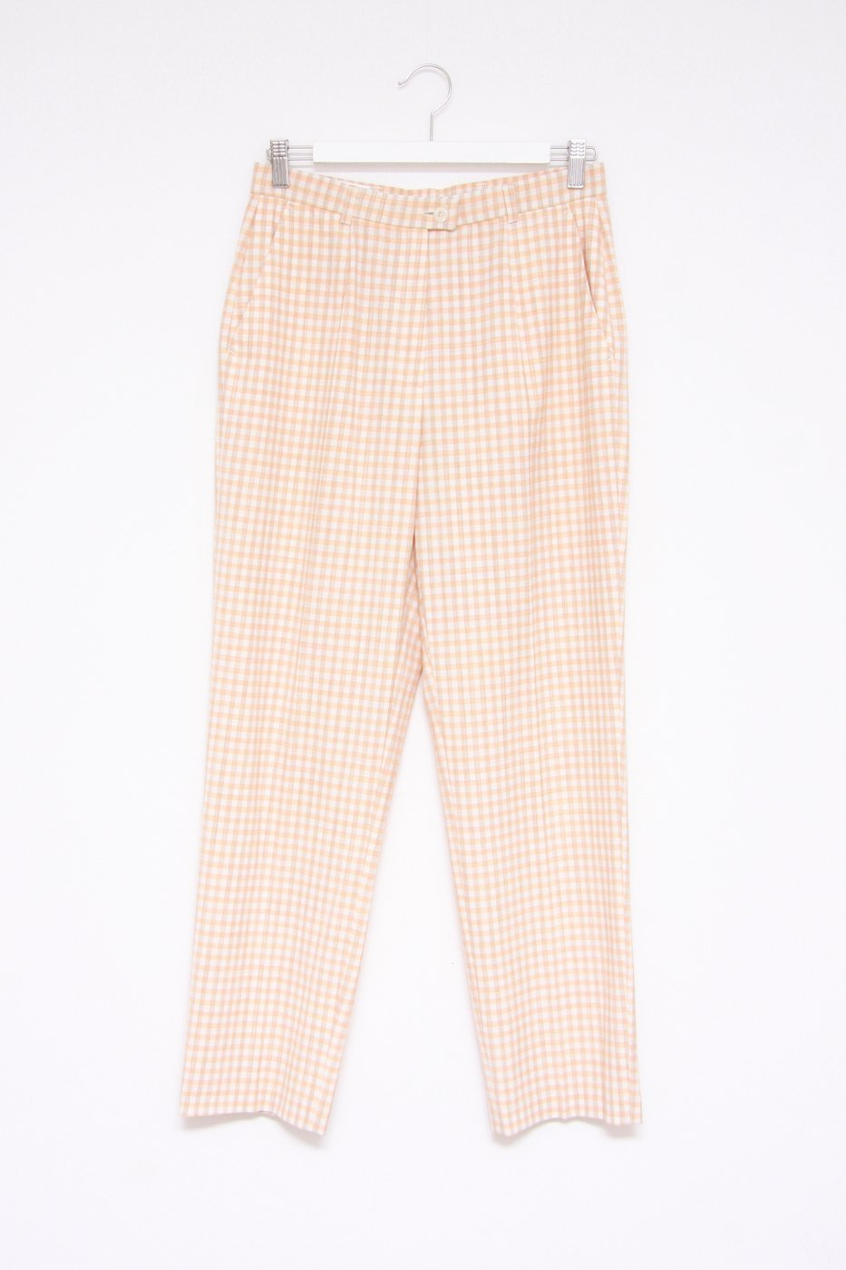 0357_CHECKED HIGH WAISTED PANTS
