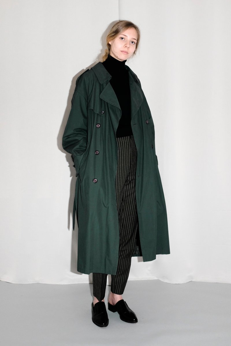 0141_EVERY SEASON GREEN TRENCH COAT