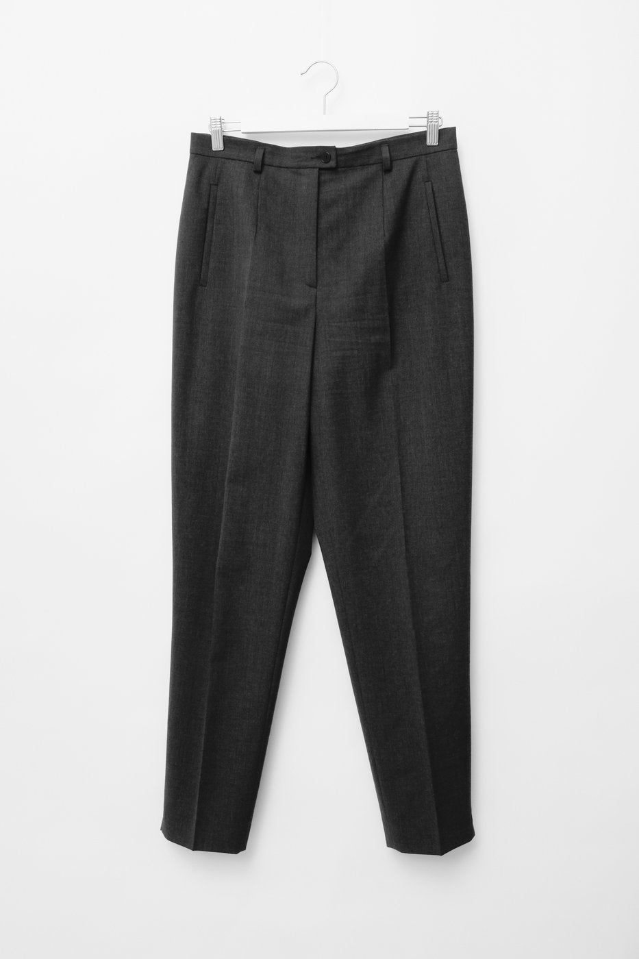 0316_WOOL ANTHRACIT HIGH WAIST PANTS