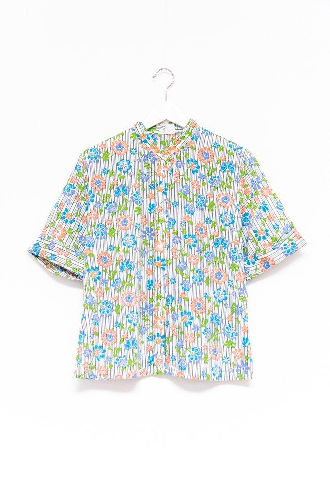 0590_FLOWER RETRO VINTAGE BLOUSE