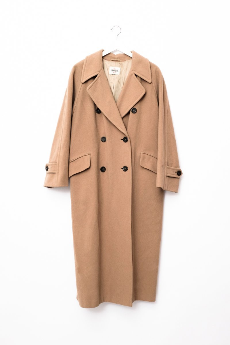 0539_CAMEL DOUBLE BREASTED WOOL COAT