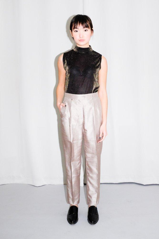 0616_VINTAGE SHINY TAILORED TROUSERS