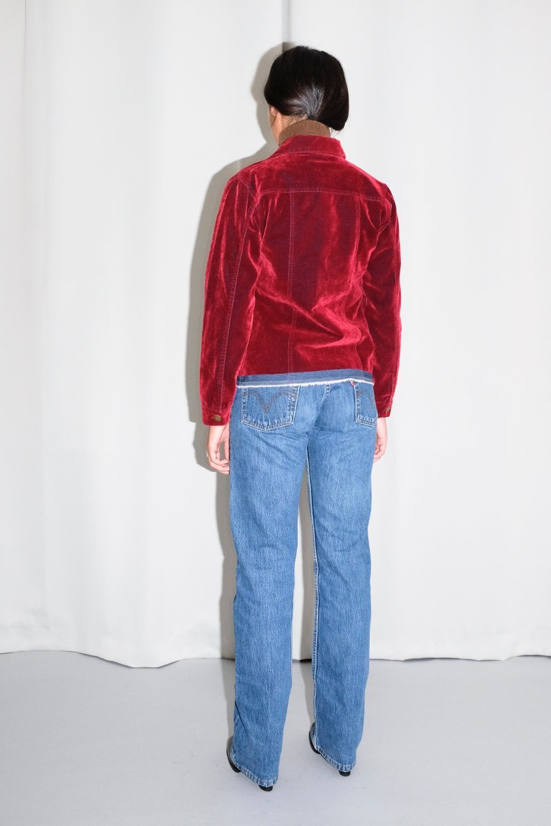 0573_VELVET BORDEAUX DENIM JACKET