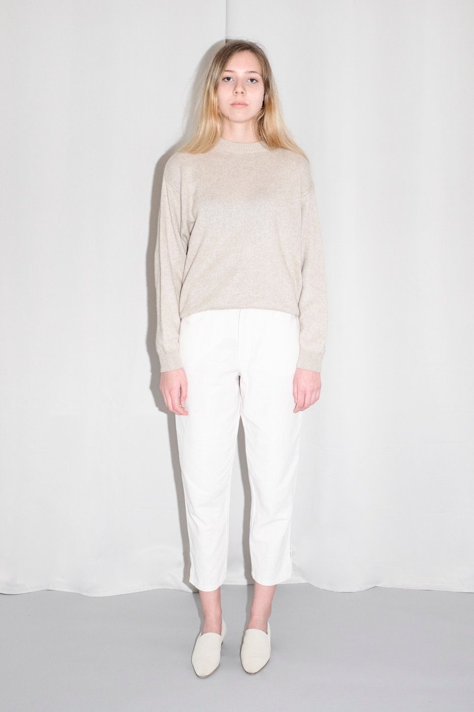 0338_CASHMERE SILK CREAM NUDE SWEATER