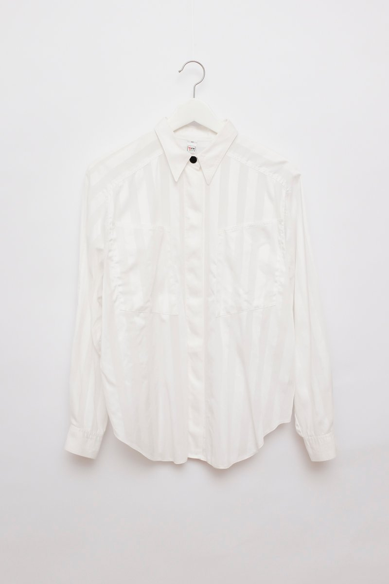0215_WHITE STRIPPED COTTON BLOUSE