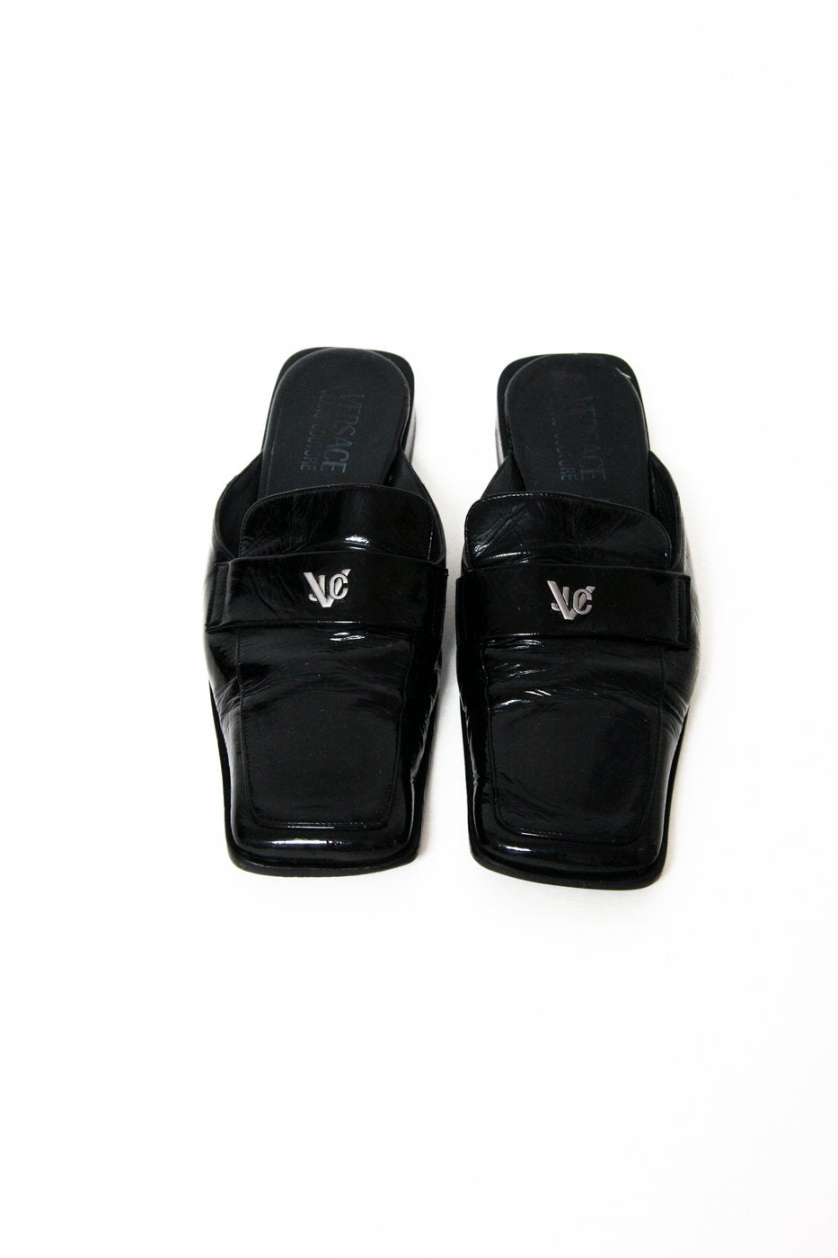 0468_VERSACE VINTAGE LEATHER SLIPPER 40