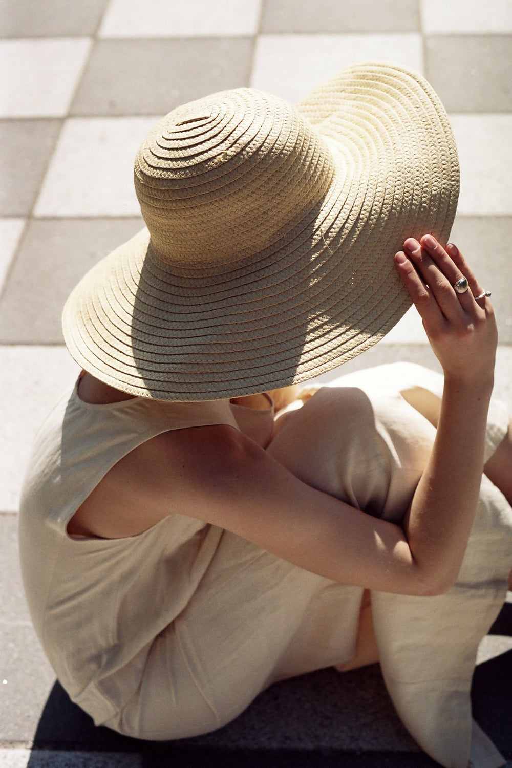 0441_SUMMER VINTAGE STRAW HAT