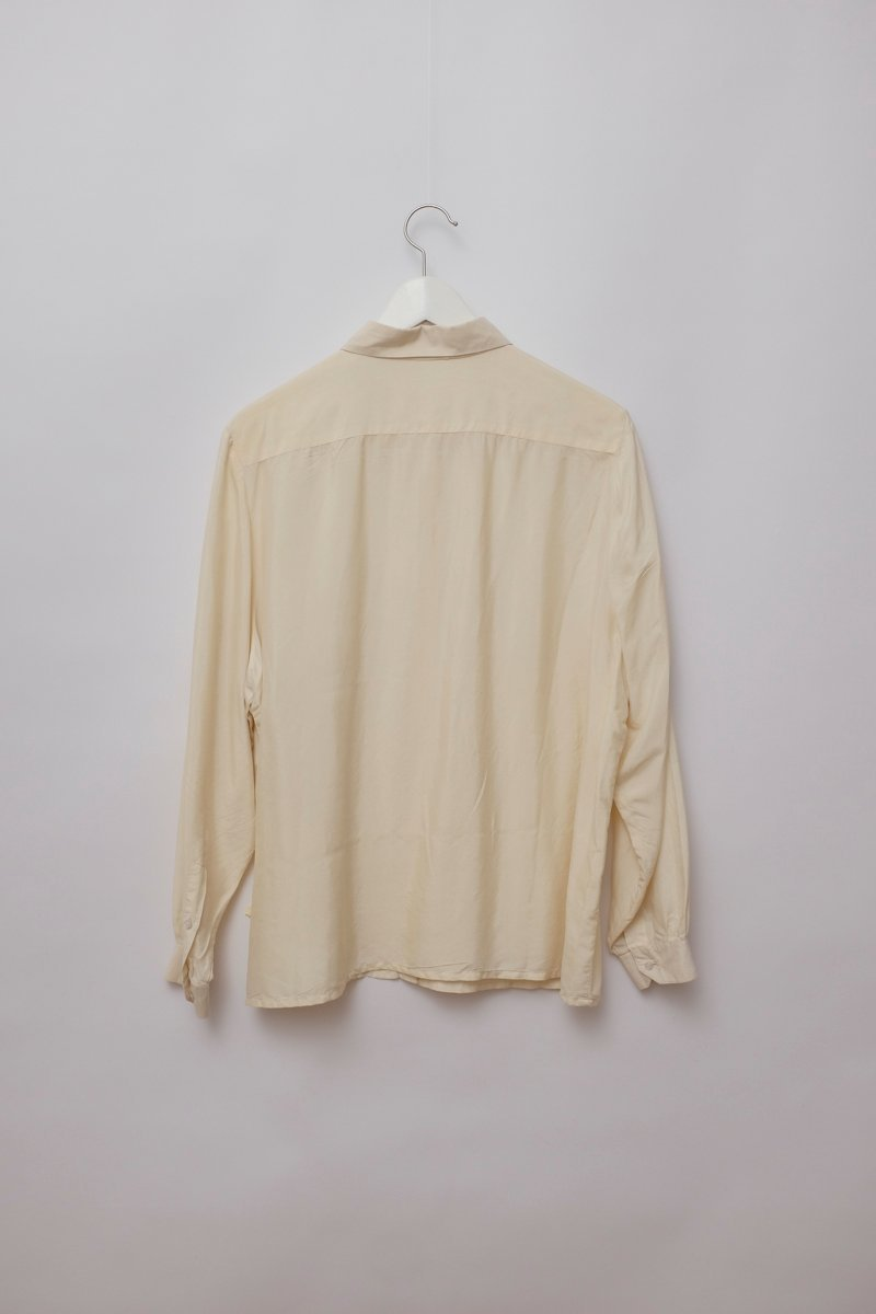 0167_SILK VINTAGE CREAM BLOUSE