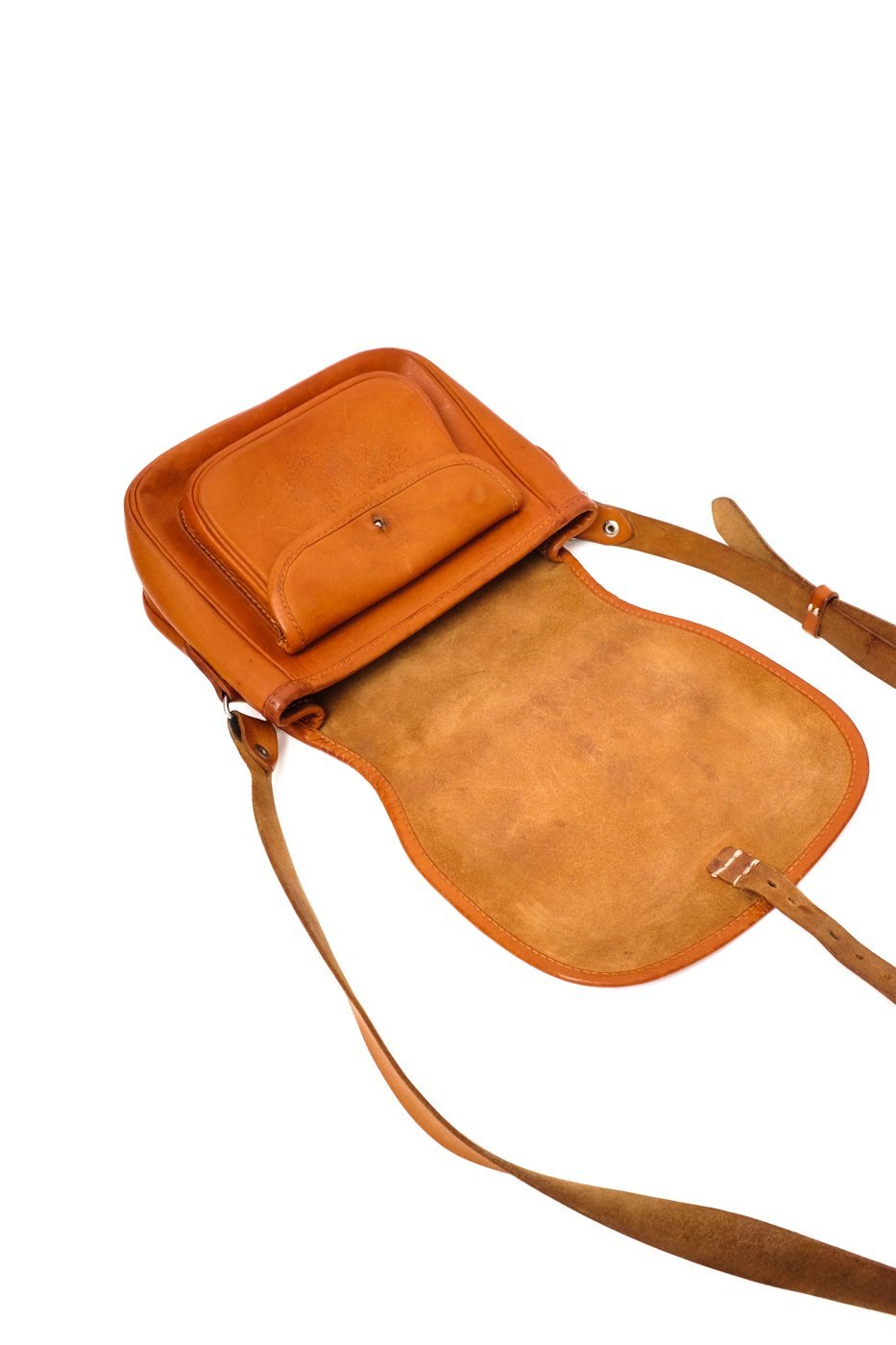0514_SADDLE VINTAGE COGNAC LEATHER BAG