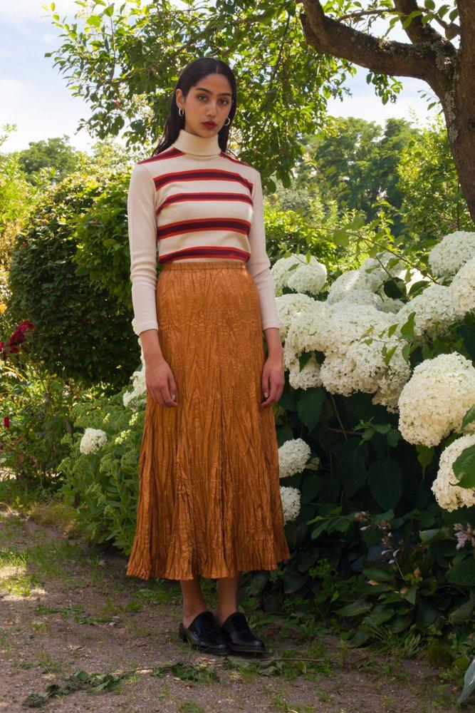 0594_PLEATING COPPER VINTAGE SKIRT