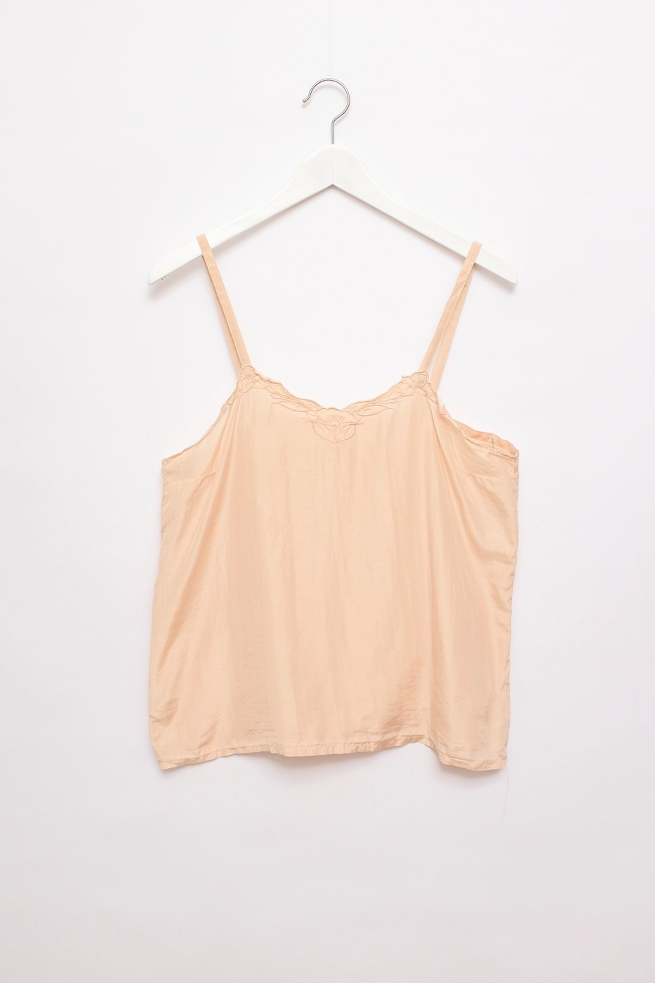 0431_PALE SALMON SILK VINTAGE TOP