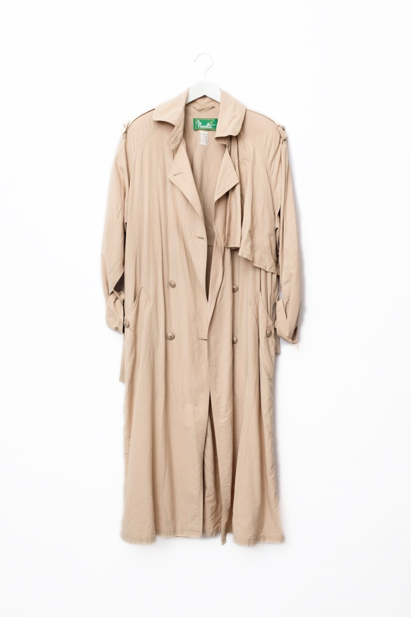 0536_SAND FLOWING OVERSIZED TRENCH COAT